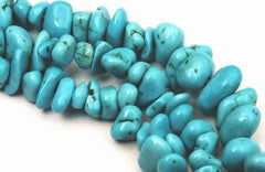 Ravishing Blue Turquoise Nugget Beads