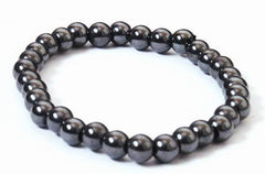 Magnetic Hematite Bead Bracelet - for healing joints
