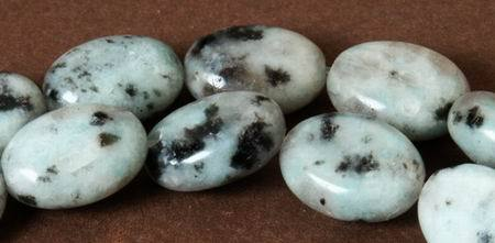 Large Sesame Jasper Oval Beads