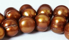 Shocking Large 10mm Copper Gold Potato Pearls