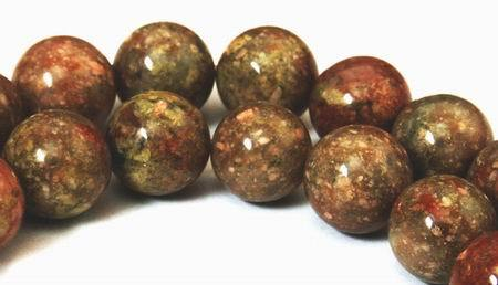 Large Autumn Flower Jasper Beads - 12mm