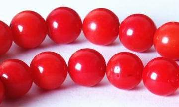 Fire Engine Red Coral Beads - 3mm or 6mm