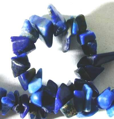 Royal Blue Lapis 8mm Chip Beads - Long String