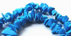 "Blue Turquoise Chip Beads -  Long 32"" String"