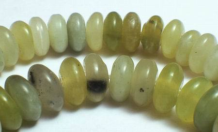 Stubby Mountain Jade Rondelle Abacus Beads - 17mm