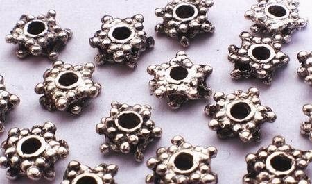 100 Victorian Star Bead Spacers