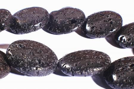 Large Volcanic Lava Button  Beads - Unusual !