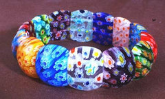 Beautiful Millefiori Bead Bracelet #2