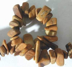 Unusual Picture Jasper Chip String