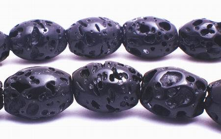Volcanic Lava Barrel Beads