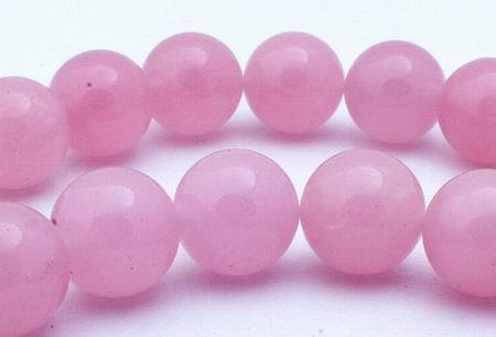 Large Soft Pink Jade Beads - 12mm
