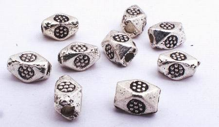 50 Dotted Octagon Bead Spacers