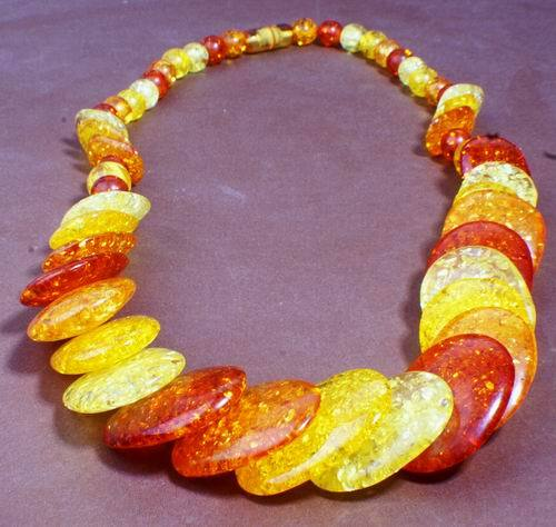 Beautiful Amber Disc Necklace