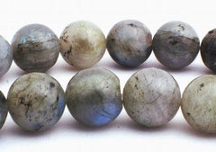 Large Natural Labradorite Beads - see the blue shimmer! - 6mm , 8mm,10mm &12mm