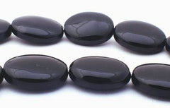 Haunting Black Onyx Puff Oval Beads