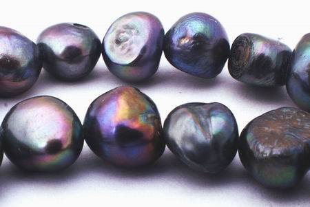 Big Sinful Black Biwa Pearls