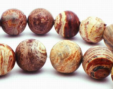 Large Saturn Jasper Beads - 10mm