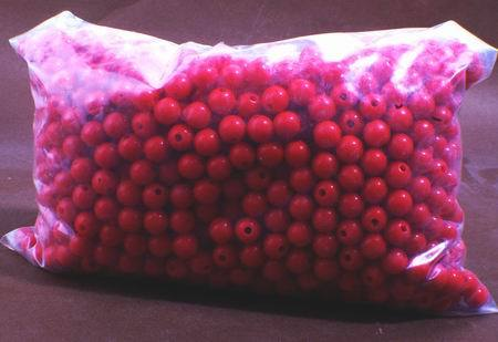 1,750 x 8mm Red Plastic Beads