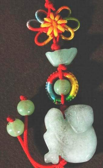Wicked Chinese Jade  Monkey Pendant