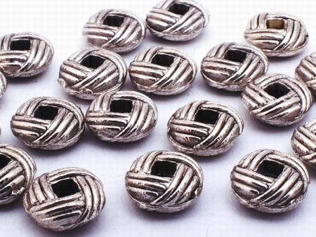 100 Silver Weave Bead Spacers