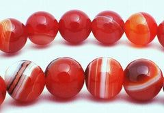 Luscious Red Sardonyx Agate Beads - 6mm or 8mm