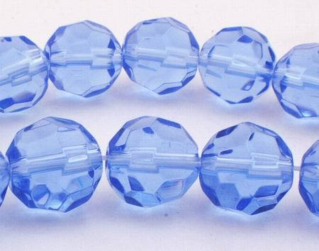 Sparkling Faceted Tanzanite Blue Glass Beads