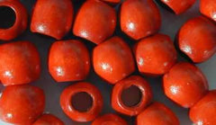 200 x 11mm Red Natural Wooden Beads