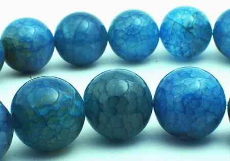 14mm Beautiful Larimar Blue Fire Agate Beads
