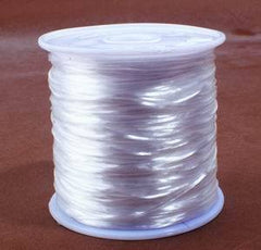 Strong & Stretchy Crystal String Beading Thread - Black, White, or Red