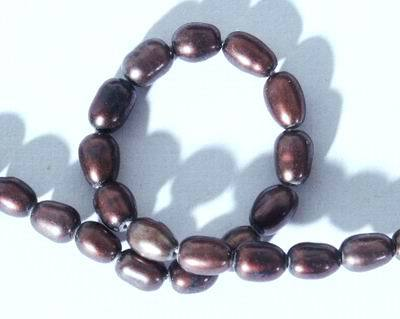 Black Chinese Rice Pearls - 5x3mm