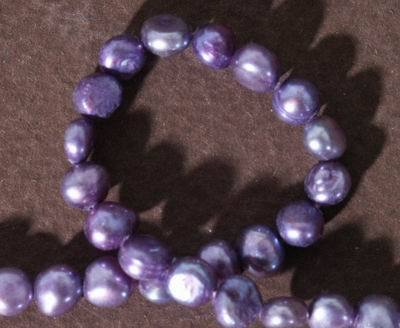 Wicked Passionate Purple Biwa Pearls - 5mm x 4mm