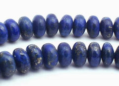95 Majestic Royal Blue Lapis Rondelle Beads