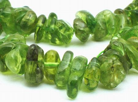 Enchanting Spring Green Peridot Small Nugget Beads