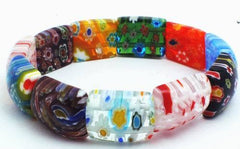 Gorgeous Millefiori Bracelet - Explosion of Colour!