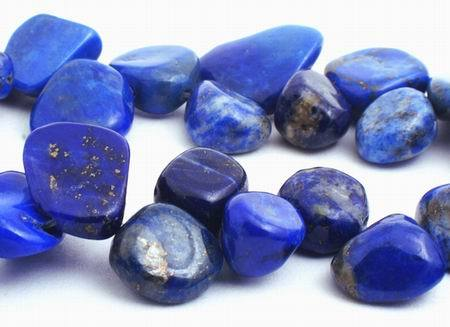 Majestic Royal Blue Lapis Nugget Beads