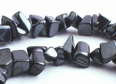 Slinky Black Hematite Chip Beads - Long 34-inch String