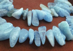 Enchanting Aquamarine Icicle Beads