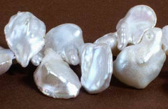 Large Silky Keshi Pearls - very nice!