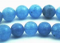 Large Sky-Blue Aquamarine Quartz Beads - 10mm or 12mm