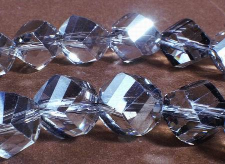20 Gleaming Multi-FAC Silver Crystal Beads
