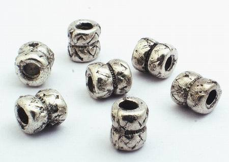 75 Snazzy Silver Dumbbell Bead Spacers
