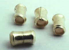 4 Thai Silver Dog Bone Spacers - 6mm x 4mm