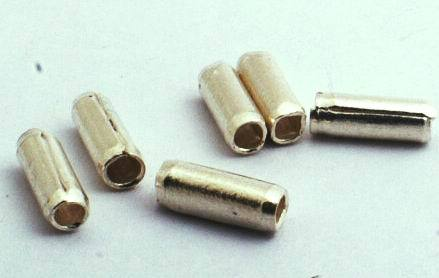 4 Tube Thai Silver Bead Spacers - 8mm x 3mm