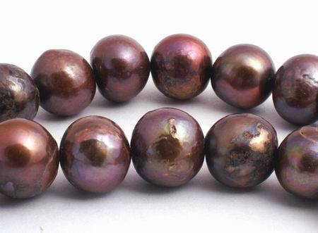 Delicious Chocolate Pearls - 8mm to 9mm