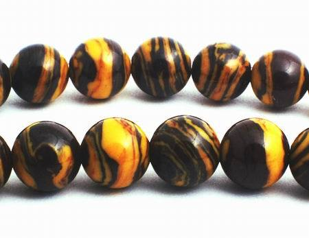 Enchanting Autumn Calsilica Beads - 6mm