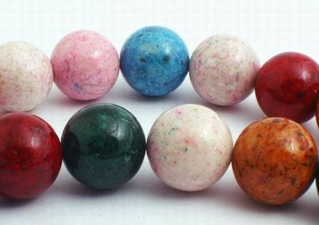 Huge 14mm Vibrant Rainbow Fossil Beads - Highly Polished