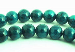 Enchanting Deep-Sea Green Fossil Beads - 4mm