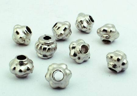 100 Tiny Silver Cog Bead Spacers - 925