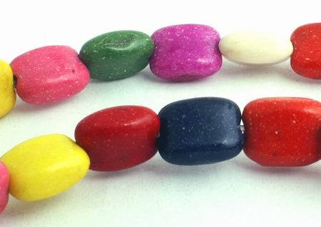 50 Summer Rainbow Turquoise Nugget Beads - Colourful