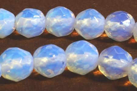 Mystical Faceted 6mm Opalite Moonstone Beads